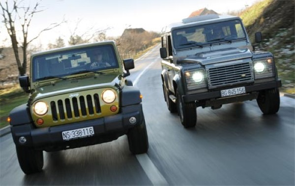 Land Rover Defender 90 vs. Jeep Wrangler TJ